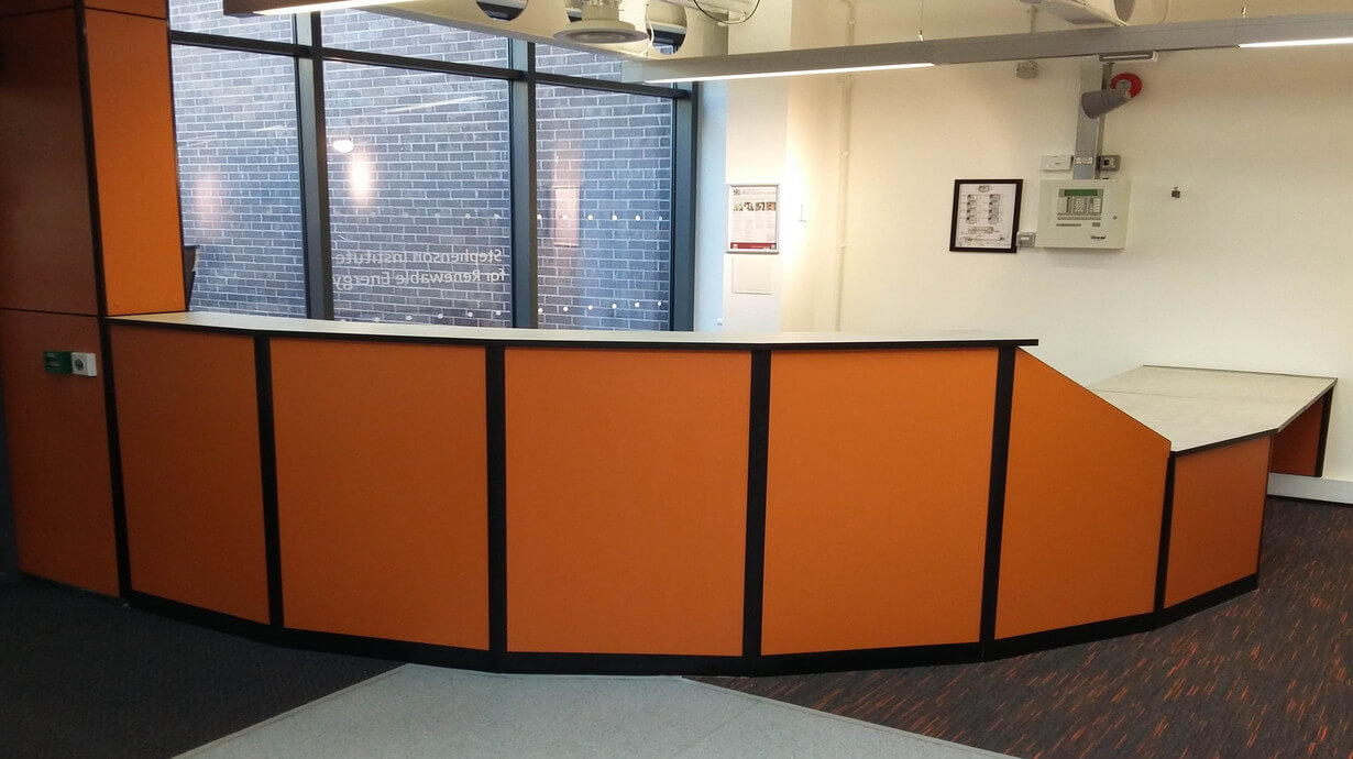 Stephenson building reception center counter teksol ltd furniture specialists