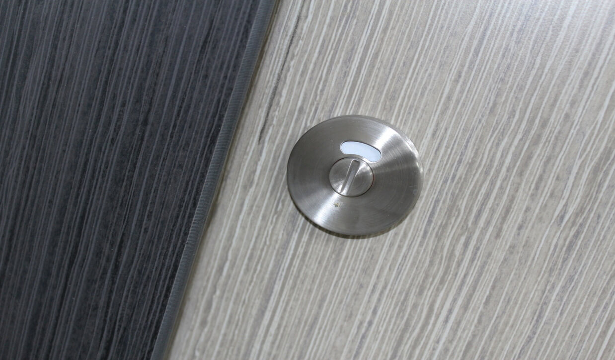 Lock details with school of architecture toilets by TEKSOL ltd